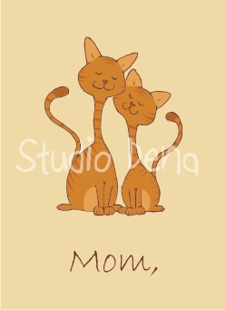 Mother's Day Card with Cats