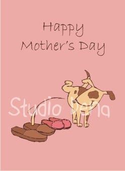 Dog Peeing Mother's Day Card Design